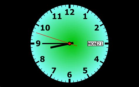clock screensaver    software