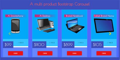 bootstrap carousel template a bootstrap multi item carousel template