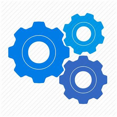 Gears Process Icon System Settings Clipart Setting
