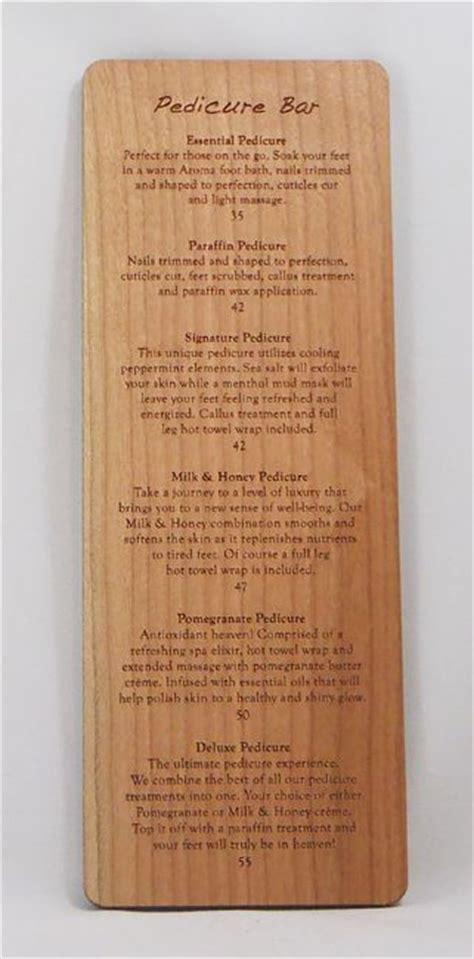 wood menus menu boards images  pinterest