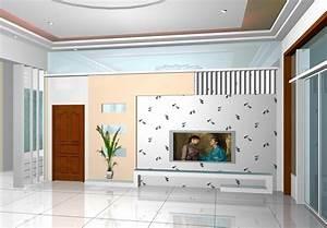 TV wall design ideas in living room light blue Download