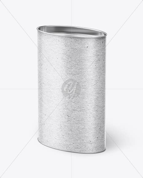 Visualise your ideas on this mockup of a kraft paper flour bag in half side view. Kraft Oval Tube Mockup - Half Side View in Tube Mockups on ...