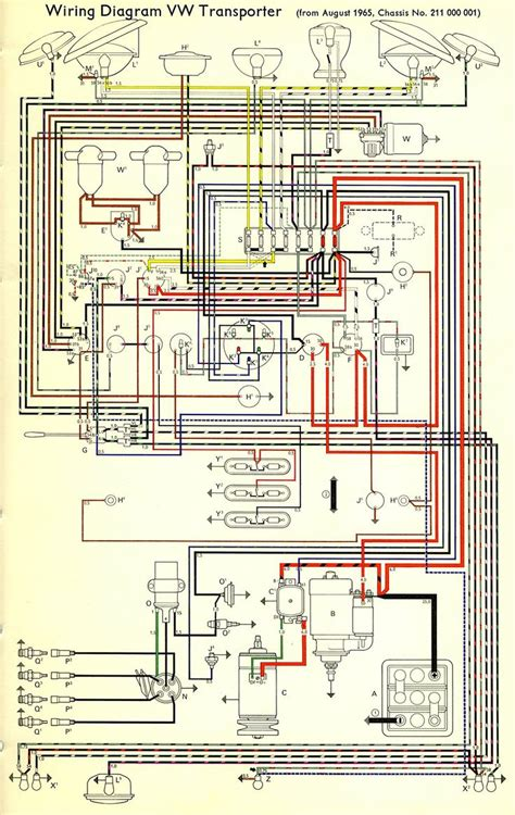 wiring diagram vw transporter  samba bay pride