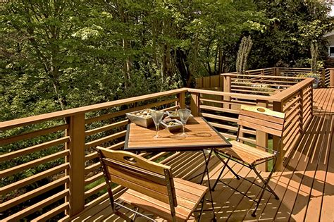 kitchen designs contemporary horizontal deck railing embraces every outdoor living with