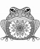 Coloring Frog Printable Toad Adults Print Relaxing sketch template