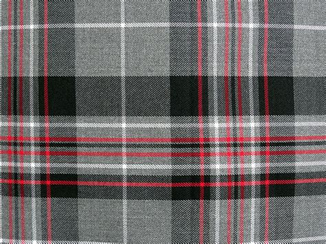 grey black red white tartan knife pleat kilt skirt