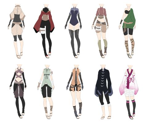Naruto Outfit Adoptables 4 [CLOSED] by xNoakix3 on DeviantArt | Outfits | Pinterest | Tenue ...