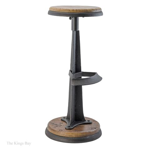 wood and iron bar industrial cast iron wood handsome bar stool antique