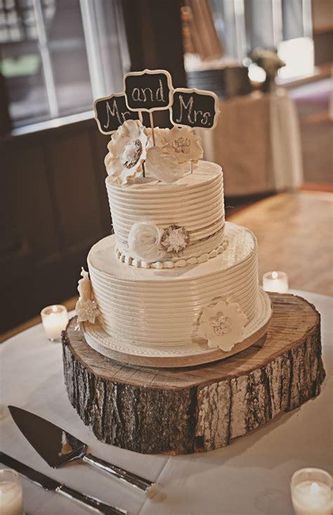tier white wedding cake  chalkboard cake topper