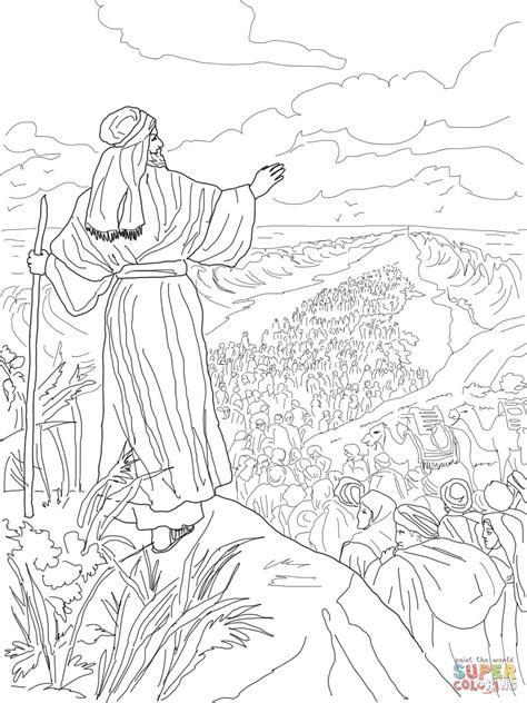 israelites crossing  red sea coloring page
