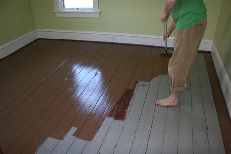 how to paint wood floors and the right wood paint brown hairs