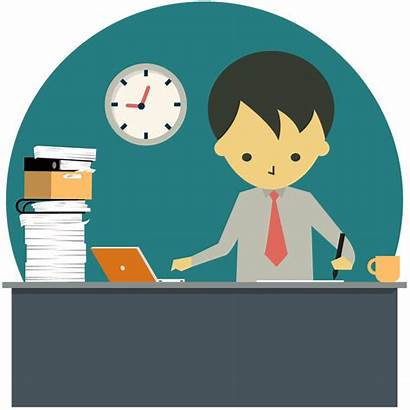 Clipart Overtime Working Business Late Night Transparent