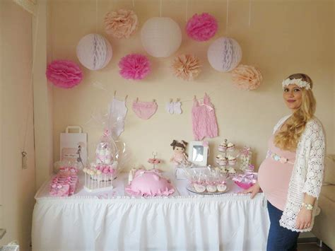 real baby shower zart rosa babyparty fuer ein kleines baby