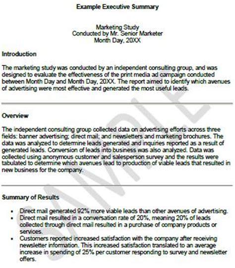 Business Executive Summary Example