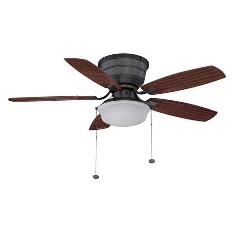 lowes outdoor ceiling fans with lights shop litex 44 in natural iron flush mount ceiling fan with