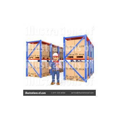 Warehouse Clipart Illustration Royalty Texelart Rf Cart