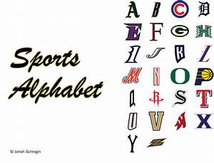 blog communicating visually With sports alphabet letters
