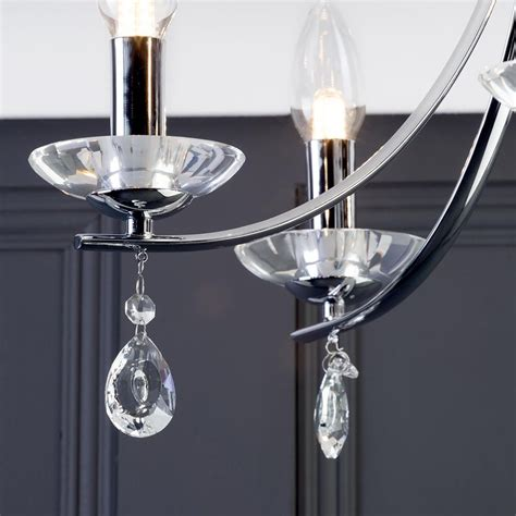 marquis  waterford bandon led  light curved bathroom chandelier chrome  litecraft