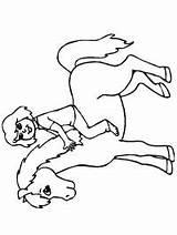 Rocking Horse Horseback Riding Coloring sketch template
