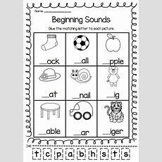Beginning Sounds Printable Worksheet Pack  Prek Kindergarten First Grade  A+ School Resources