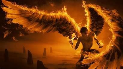 Wings Angel Fire 4k Wallpapers Uhd