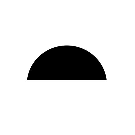 Black And White Half Sun Svg
