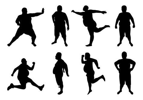 foto de Set Of Fat Guy Silhouettes Download Free Vectors