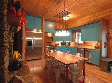 Rustic Modern Log Cabin   Rustic   Kitchen   Charlotte