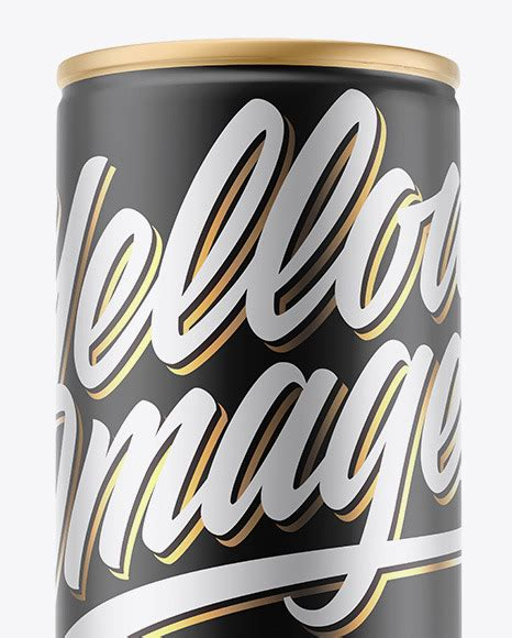 Up to 3$ per mockup. Matte Metallic Can Mockup in Can Mockups on Yellow Images ...