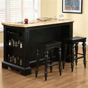 powell kitchen islands pennfield kitchen island stools in black finish powell 318 416m1