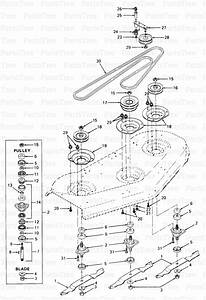 Cub Cadet 317 48 Mower Spindles  Blades  U0026 Pulleys Diagram