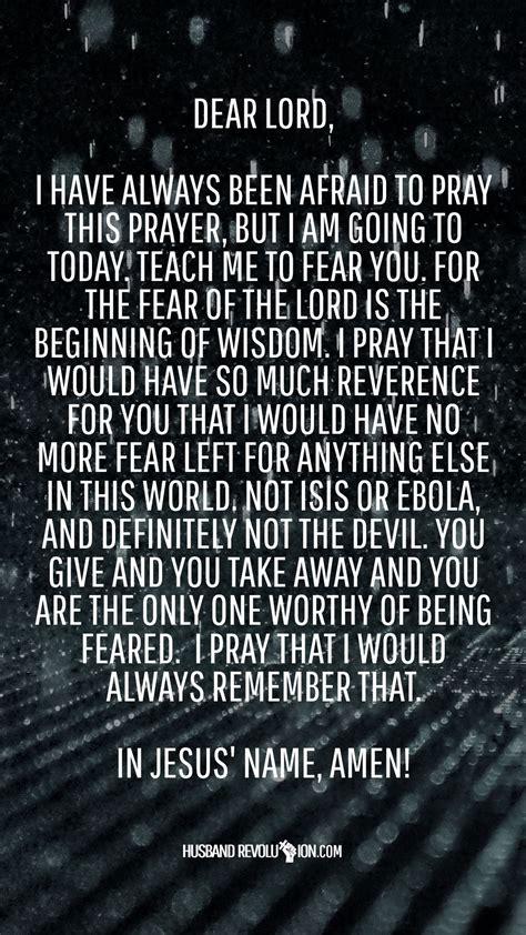 marriage prayer  fear  lord