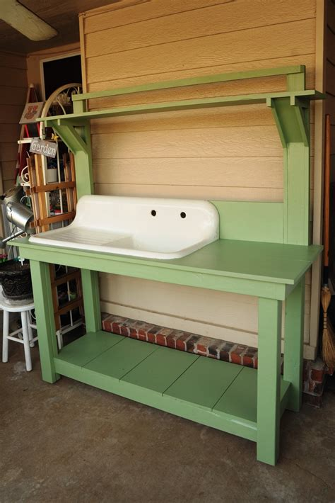 potting bench with sink potting bench with sink my new potting bench that my