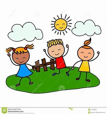 Geitjes Spelen Beeldverhaaljonge Gelukkige Jonge Het Bambini