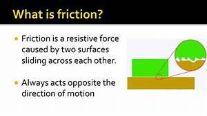 Friction Force - YouTube