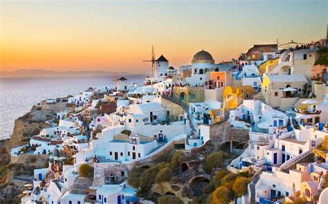 Santorini Beautiful Island Of Greece World