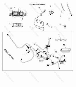 Polaris Atv 2017 Oem Parts Diagram For Electrical Harness