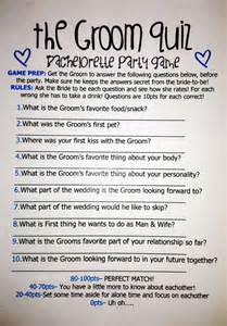 Trivia Questions For Bridal Shower by Groom Quiz Bachelorette Anna Haha And We