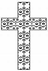 Coloring Printable Cross Crosses Christian Easter Adult Colouring Sheets Flower Crafts Pattern Detailed Hubpages sketch template
