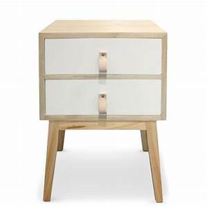 Table De Chevet Scandinave Ikea : table de chevet 2 tiroirs ch ne clair et blanc bjork ~ Teatrodelosmanantiales.com Idées de Décoration