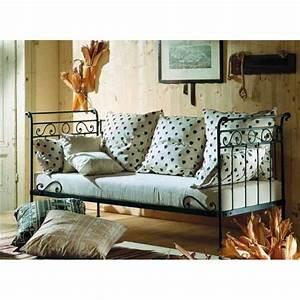 Canapé Fer Forgé : canap lit en fer forg mod le avril achat vente canap sofa divan fer forg cdiscount ~ Teatrodelosmanantiales.com Idées de Décoration