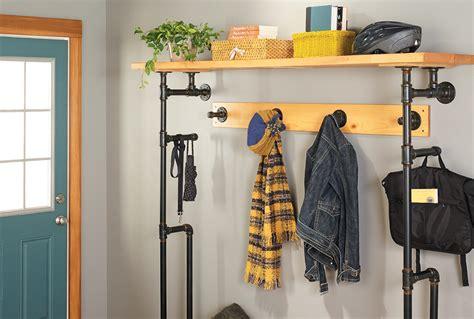 sleek mudroom storage shelf  home  style