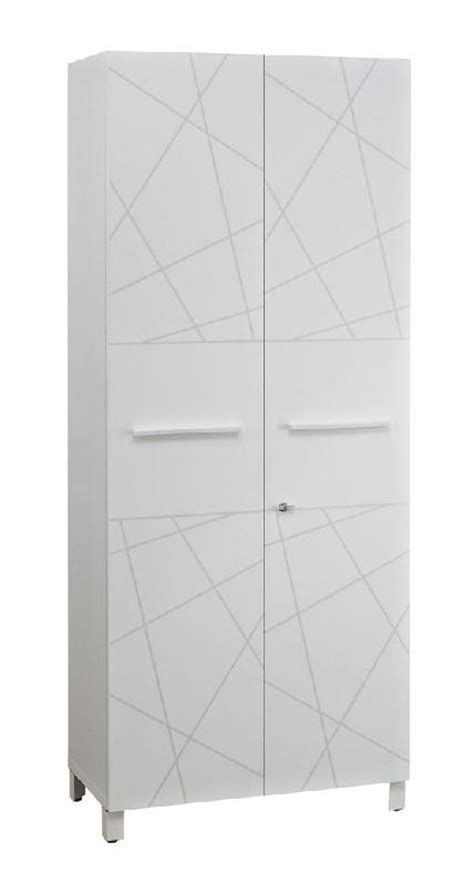 armoire 2 portes finition blanc sunday largeur 80 cm
