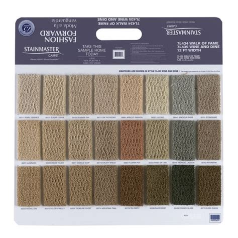 Shaw Stainmaster Multiple Nylon Cut And Loop Carpet Sample