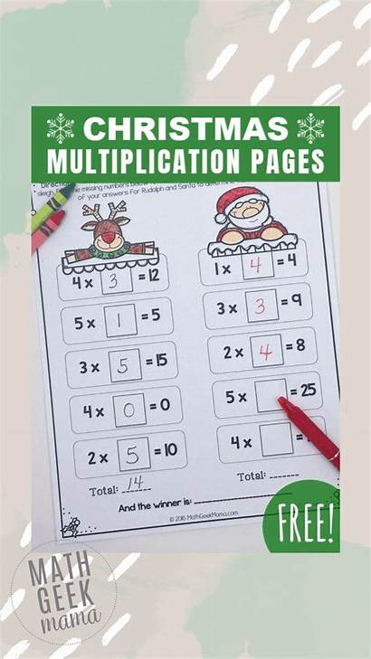 Multiplication Challenge Christmas Cool Facts Math Santa