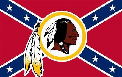 Redskins Washington Flag Confederate Football Offensive Native