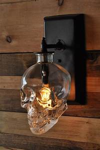 Lighting expert creates a spooky skull wall sconce from