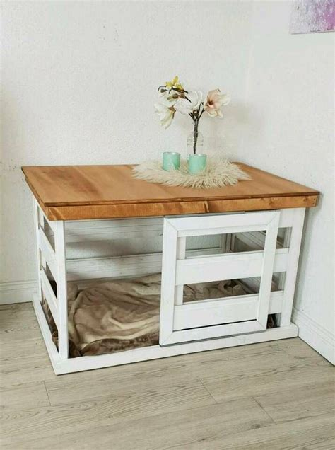 hundebox holzbox kennel weiss holz shabby landhaus