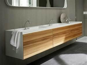 Waschtisch Weiß Holz : corian waschtisch mit unterschrank in natur elm und wei dekor ~ Sanjose-hotels-ca.com Haus und Dekorationen