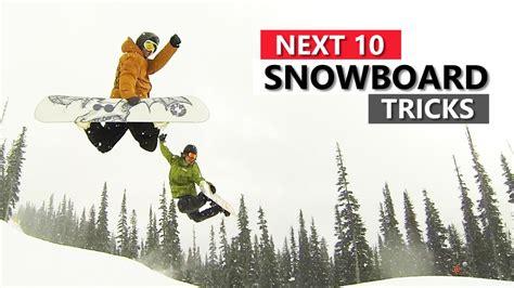 list snowboarding snowboard learn tricks skills surf